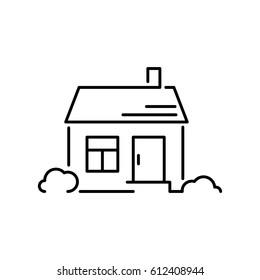 icon house line