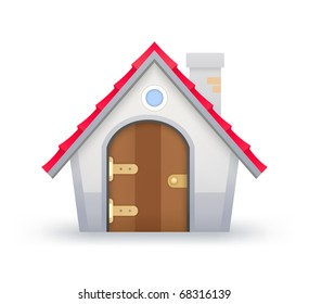 Icon of House on a white background