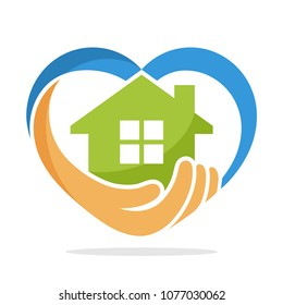 icon illustration with the concept of social service about home care