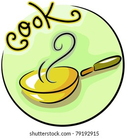 Icon Illustration of a Frying Pan