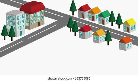 Icon illustration of houses. A vector illustration.