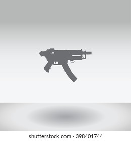 An Icon Illustration Isolated on a Background - MAchine Gun