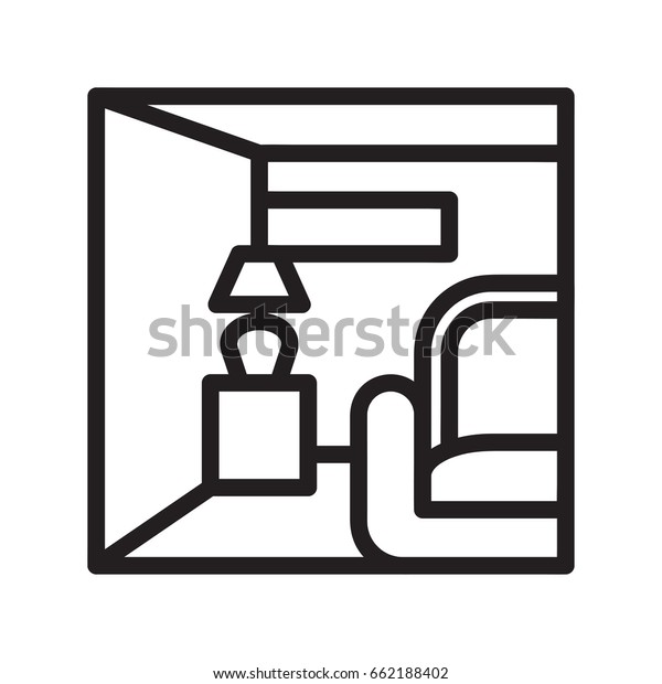 Icon Illustrations Interior Decoration Visualized Outline