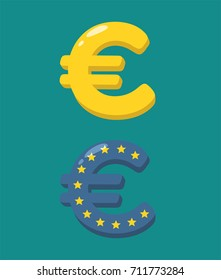 Icon with the image of the currency sign Euro.
