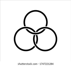 3 ring logo images stock photos vectors shutterstock https www shutterstock com image vector icon interlocking circles filter borromean rings 1747221284
