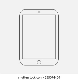 icon ipad . button iPad, logo iPad Pro vector illustration eps10