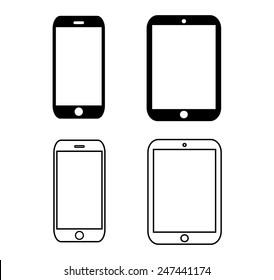 icon ipad,iPhone ,ipad,iphone button , logo  i pad,i phone vector illustration eps10