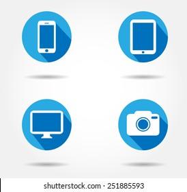 icon ipad,iPhone Mac,ipad,iphone button , logo  i pad,i phone vector illustration eps10