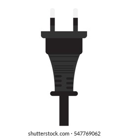 icon isolated black electrical connector for wire cable, vector illustration
