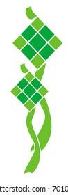 icon for ketupat, for malay festival, Ramadan