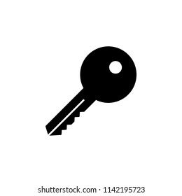 The icon of key, clue, clef, spring, signature, fount. Simple glyph icon illustration of key, clue, clef, spring, signature, fount for a website or mobile application on white background