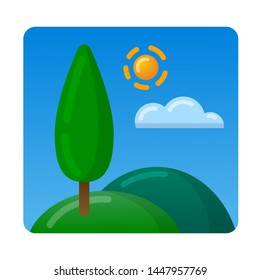 icon of landscapesand and nature