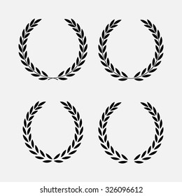 icon laurel wreath - vector illustration Black