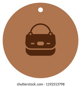 Icon leather handbag with trendy symbol for shop clothes with tote, shopper, hobo, bucket, satchel and pouch bag. Icon handbag silhouette for app, e-shop business.