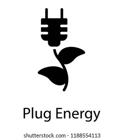 Icon of a leaves connected with a bulb depicting bioenergy