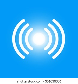 Icon of Li-Fi wireless high speed internet technology, vector illustration