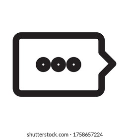 Icon line chating comment vector design