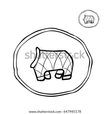 Icon Little Dog Clothes Stock Vector Royalty Free 647985178