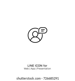 Icon Live Online Chat graphic design single icon vector