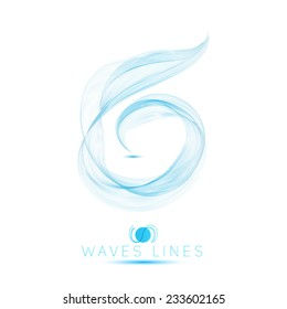 icon logo beautiful blend massive waves abstract background vector