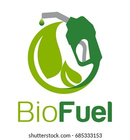 Icon logo with the concept of green energy, especially fuel energy sources
