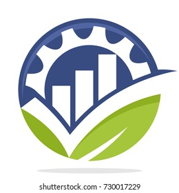 icon logo with the concept of smart choice / good choice for business environmentally friendly industry
