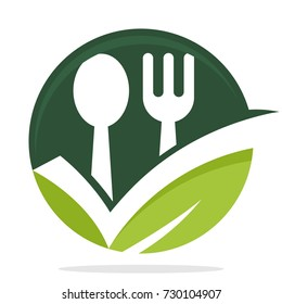 icon logo with the concept of smart choice / good choice for culinary business, organic food products
