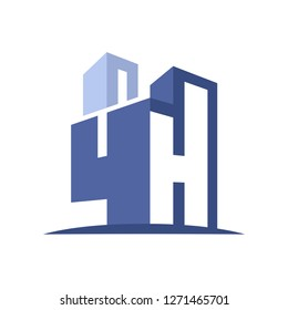 icon logo for the construction business, with combination of the initials 4 & H