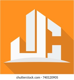 icon logo for the construction business, with combination of the initials J & C
