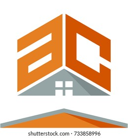 icon logo for construction business with the concept of roofs and combinations of letters A & C
