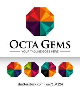 Icon logo for diamond business, gemstone and jewelry