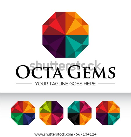 icon logo diamond business gemstone jewelry のベクター画像素材