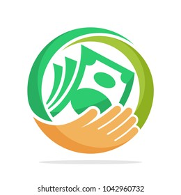 icon logo for fundraising, business loan money, save money, and other financial management