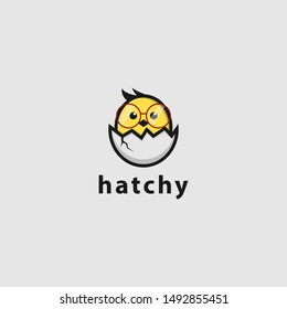 icon logo of hatching chick