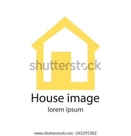 Icon Logo Home Idea Flat Design Stock Vector Royalty Free