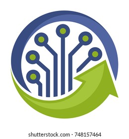 icon logo for management and development of technology