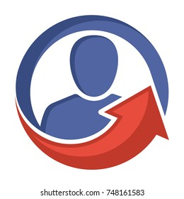 icon logo for personality consultation, leadership motivation