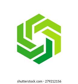 icon logo template - Hexagon element - hexagram symbol.