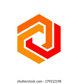 icon logo template - Hexagon element - hexagram symbol.