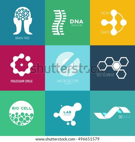 Icon Or Logo Template For Medicine Science Laboratory Mockup Symbol Corporate