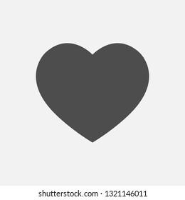 icon love dark color, vector love