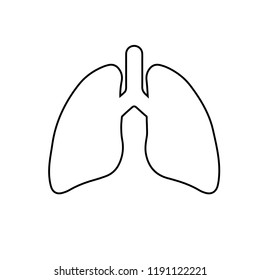 icon lungs. vector illustration