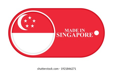 icon made in singapore, isolated on white background
