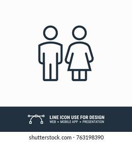 Icon male female toilet graphic design single icon vector illustration