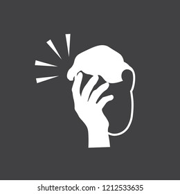 Icon of man with a gestures facepalm expression. Man with hand flopping her forehead. Headache, disappointment or shame. Epic fail emotion. Isolated vector illustration.