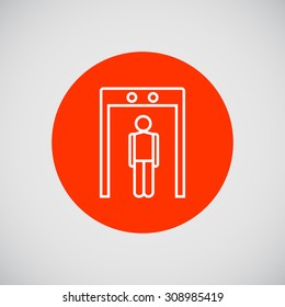 Icon of man silhouette going through metal detector gate