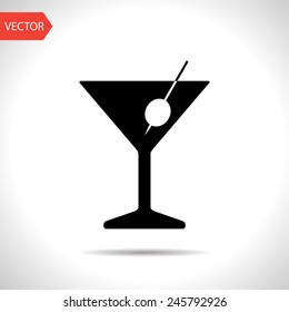 icon of martini glass