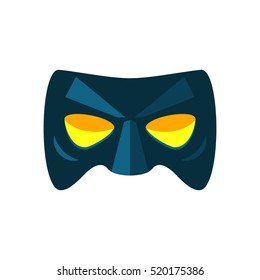 Icon mask super hero. carnival mask in a cartoon style flat. flat vector illustration isolate on a white background