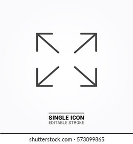 Icon maximize Single Icon Graphic Design