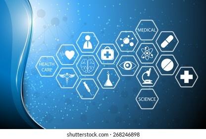 icon medical technology innovation concept background